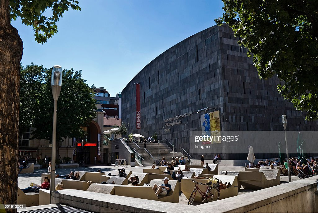 The Museumsquartier In Vienna : News Photo