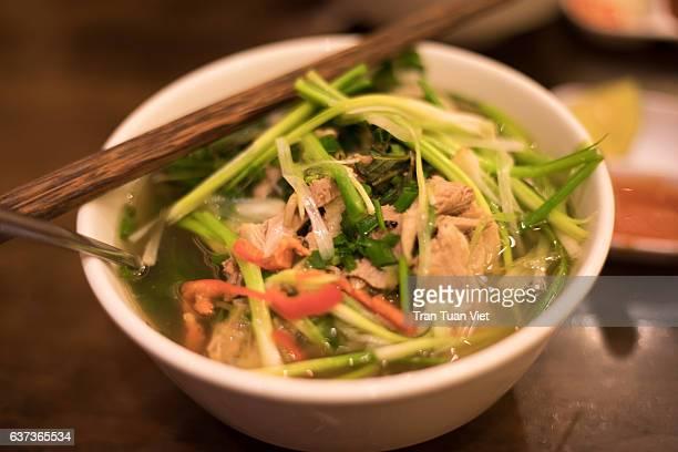 Mush duck noodle soup - Vietnamese traditional food - Vietnam Cuisine