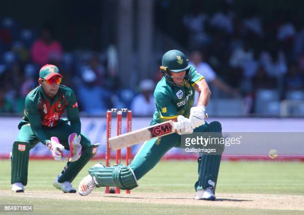 Mushfiqur Rahim of Bangladesh and Aiden Markram of South Africa during the 3rd Momentum ODI match between South Africa and Bangladesh at Buffalo Park...