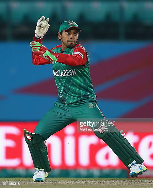 Mushfiqur Rahim of Bangladesh in action during the ICC Twenty20 World Cup match between Ireland and Oman at the HPCA Stadium on March 9 2016 in...
