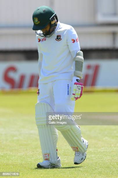 Mushfiqur Rahim of Bangladesh out for 26 runs during day 3 of the 2nd Sunfoil Test match between South Africa and Bangladesh at Mangaung Oval on...