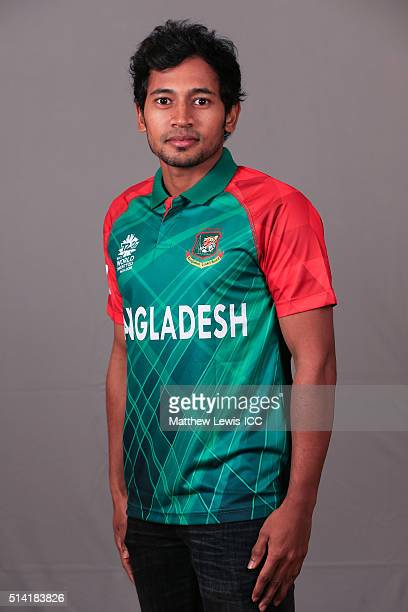 Mushfiqur Rahim of Bangladesh pictured during a Headshot session ahead of the ICC Twenty20 World Cup on March 7 2016 in Dharamsala India