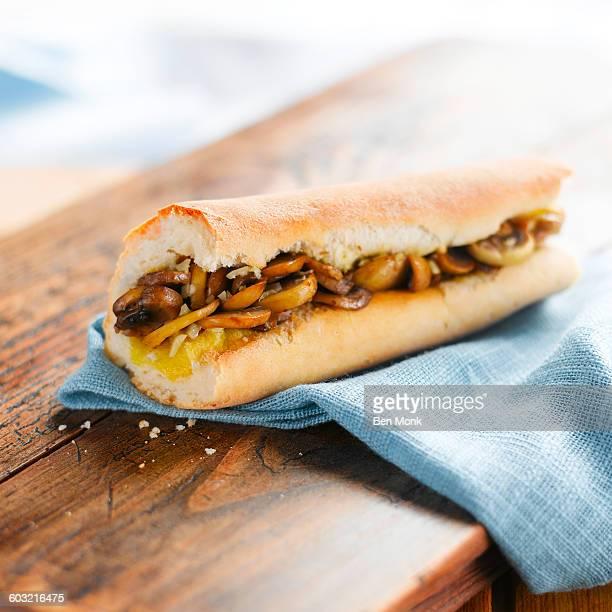 Mushroom baguette
