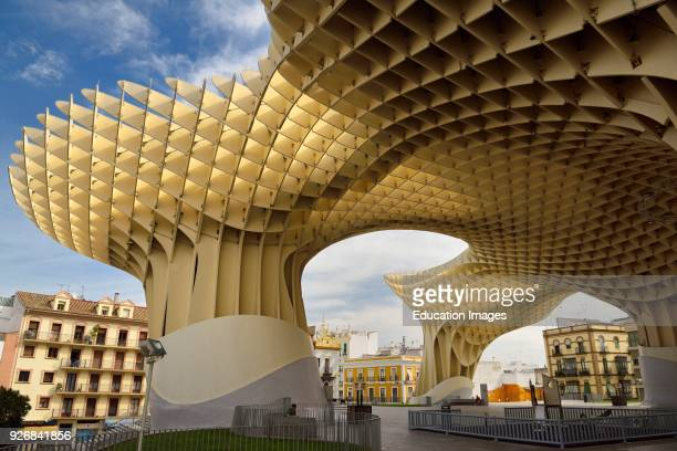 Mushroom canopy of Metropol Parasol at Plaza of the Incarnation Seville Spain