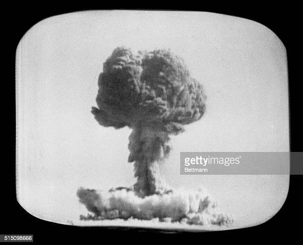 Mushroom cloud from China's first test of an atomic bomb on October 16 1964 It is believed the nuclear device was detonated in a remote part of...