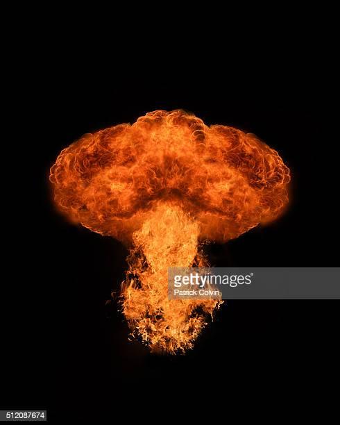 Mushroom shaped fireball