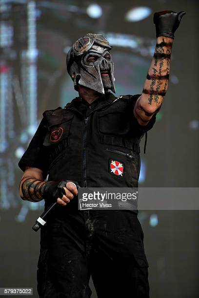 Mushroomhead band perform during a show as part of the Corona Hell & Heaven Metal Fest at Autodromo Hermanos Rodriguez on July 23, 2016 in Mexico...