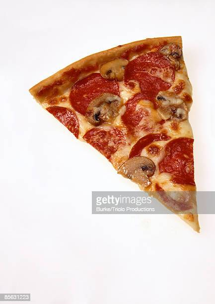 Mushrooms and pepperoni pizza