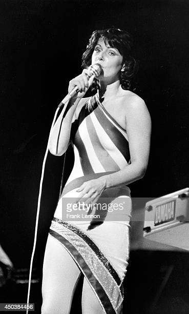 Music Abba Photo of AnniFrid Lyngstad of Abba in concert at Maple Leaf Gardens taken by Frank Lennon Oct 7 1979