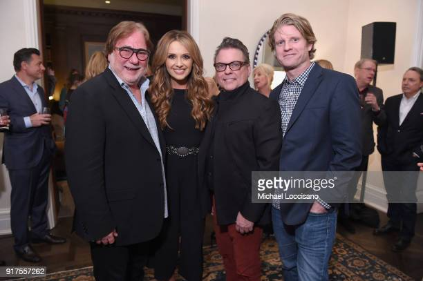 Music Agent Rod Essig musician Carly Pearce Jeff Gregg and Kos Weaver attend the Country Music Hall Of Fame And Museum Reception With Carly Pearce...