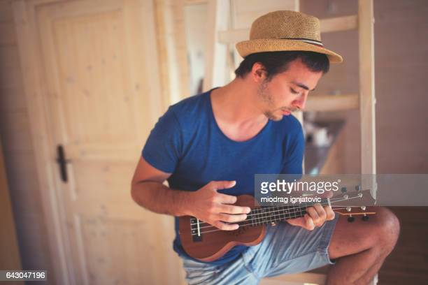 music all around - ukulele stock pictures, royalty-free photos & images