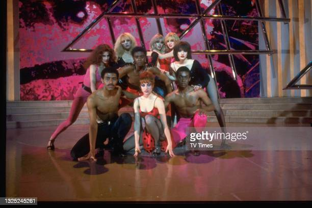 Music and dance group Hot Gossip, including Perri Lister and Roy Gale, circa 1980.