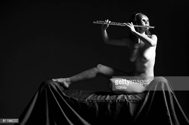music and nude - old nudists stock pictures, royalty-free photos & images