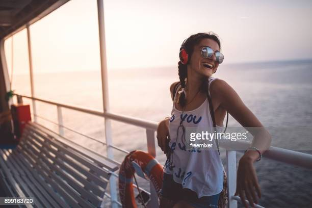 music and travelling is what i like - ferry stock pictures, royalty-free photos & images