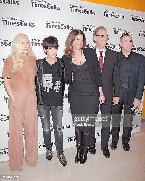 Music artist and award winner Lady Gaga song writer and award winner Diane Warren Film Producers and Directors Amy Ziering and Kirby Dick with New...