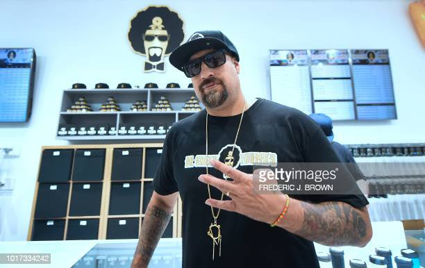 Music artist and longtime cannabis afficinado B Real of Cypress Hill stikes a pose at the opening of his flagship medical and recreational marijuana...