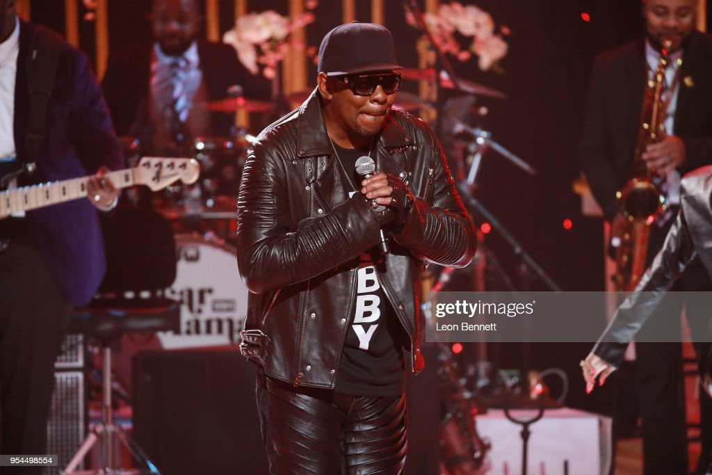 Music artist Bobby Brown performs onstage during VH1's 3rd Annual 'Dear Mama: A Love Letter To Moms' - Inside Show at The Theatre at Ace Hotel on May 3, 2018 in Los Angeles, California.