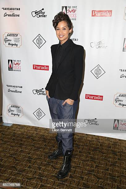 Music artist Butterscotch arrives at The 5th Annual 'She Rocks Awards' to Honor Women within the Music Industry during The NAMM Show at Hilton...