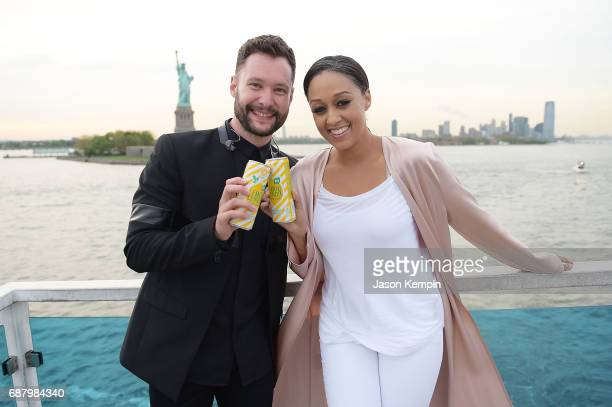 Music artist Calum Scott and Brand Ambassador Tia Mowry attend 'Picnic Time Off' to celebrate the global launch of LEMON LEMON on the Hornblower...