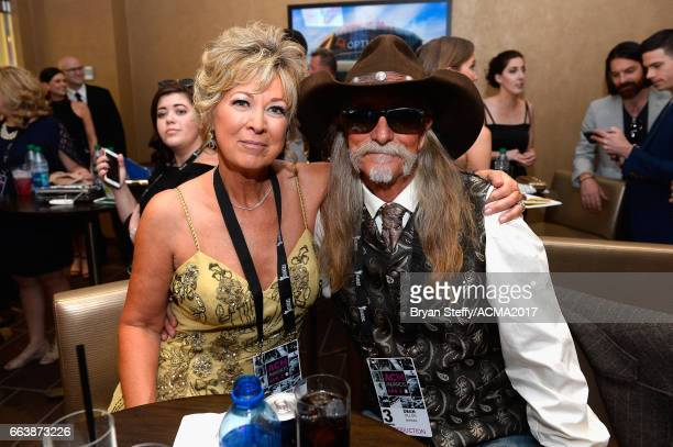 Music artist Dean Dillon and Kenni Wehrman attend the 52nd Academy Of Country Music Awards at TMobile Arena on April 2 2017 in Las Vegas Nevada