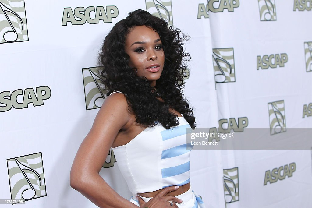 Music artist Demetria McKinney arrived at the 28th Annual ASCAP Rhythm And Soul Music Awards - Arrivals at the Beverly Wilshire Four Seasons Hotel on June 25, 2015 in Beverly Hills, California.