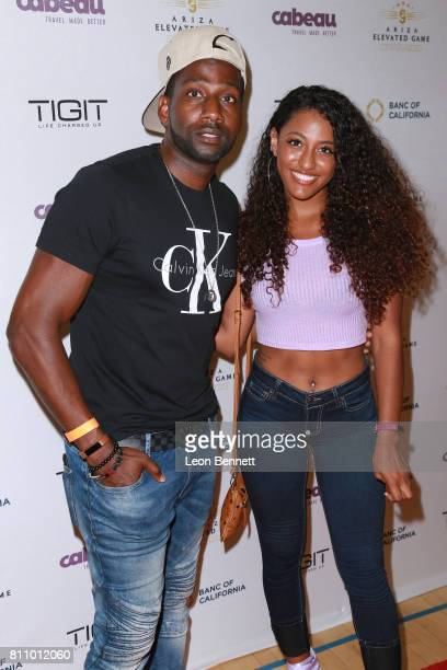 Music artist DeStorm Power and Janina attends the 3rd Annual Ariza Elevated Celebrity Charity Basketball Game on July 8 2017 in Woodland Hills...
