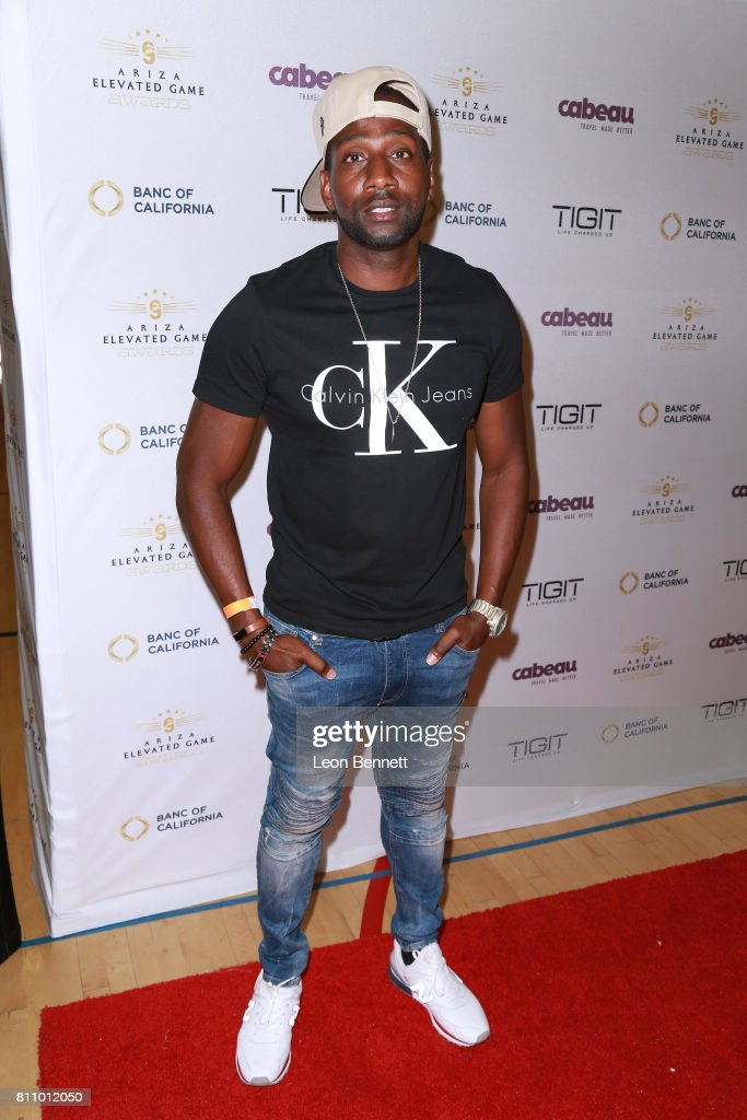 Music artist DeStorm Power attends the 3rd Annual Ariza Elevated Celebrity Charity Basketball Game on July 8, 2017 in Woodland Hills, California.