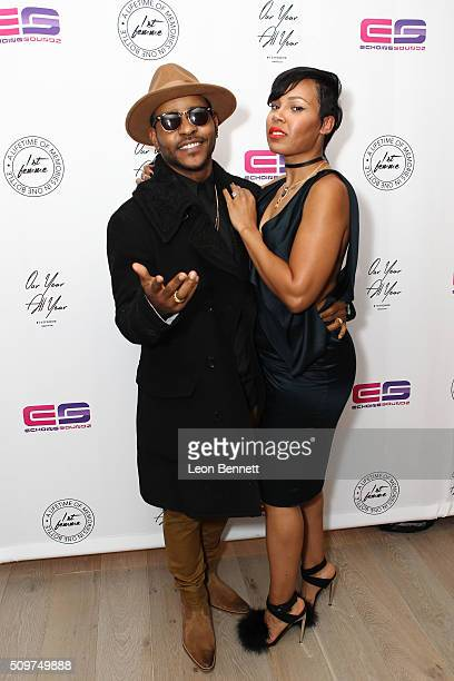 Music artist Eric Bellinger and La'Myia Good attended the La'Myia Good Hosts 1st Femme Fragrance Launch on February 11 2016 in Hollywood California