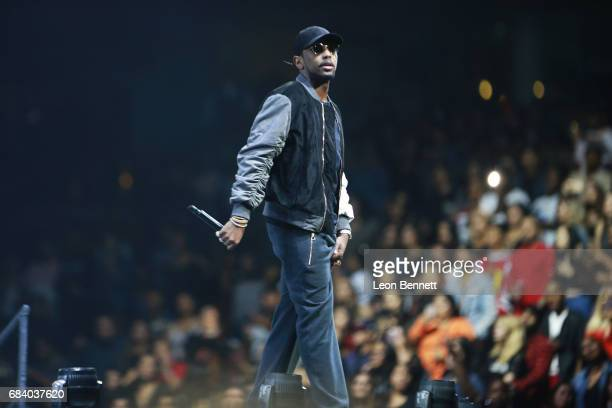 Music artist Fabolous performs on stage during the Chris Brown The Party Tour at Honda Center on May 16 2017 in Anaheim California