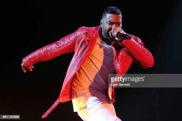 Music artist Ginuwine performs during The WAVE Winter Jam at Honda Center on December 1 2017 in Anaheim California