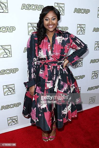 Music artist Jazmine Sullivan arrived at the 28th Annual ASCAP Rhythm And Soul Music Awards Arrivals at the Beverly Wilshire Four Seasons Hotel on...
