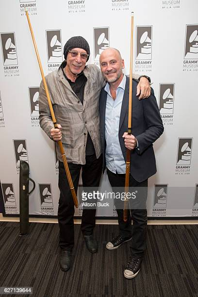 Music artist Jeff Barry and Brett Berns attend Bert Berns Event at The GRAMMY Museum on December 1 2016 in Los Angeles California