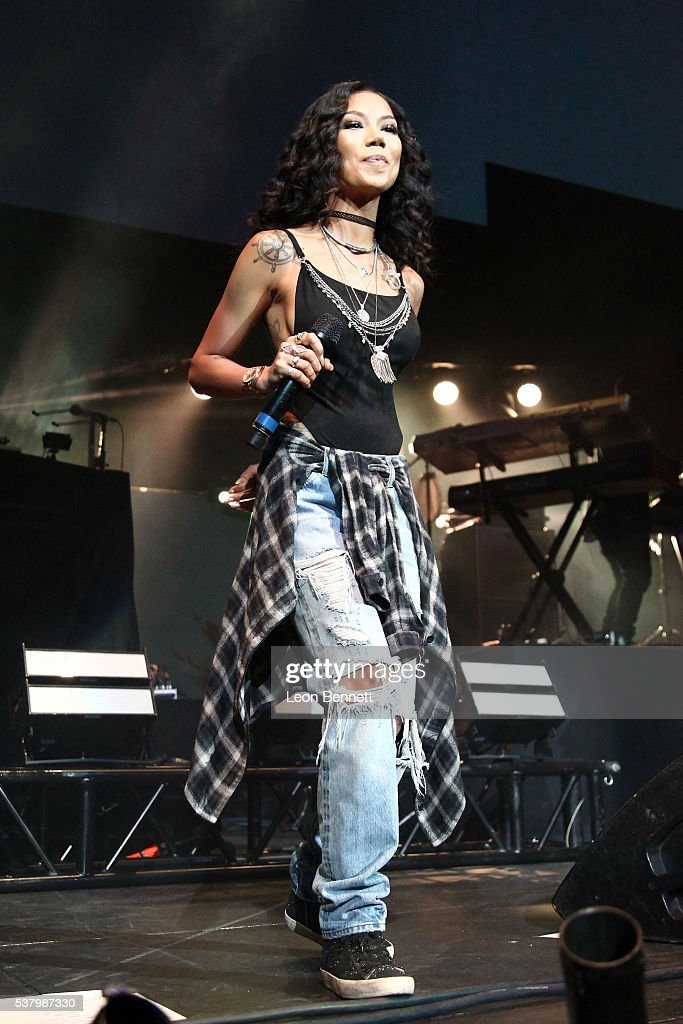 Music artist Jhene Aiko perform during the Power 106 Presents Powerhouse at Honda Center on June 3, 2016 in Anaheim, California.