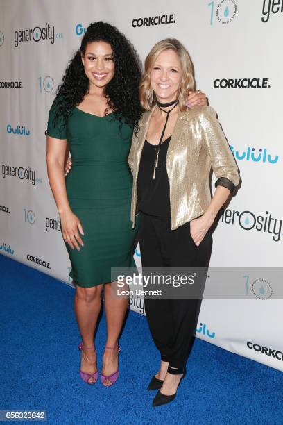 Music artist Jordin Sparks and Holly Wagner arrives at the Generosityorg Fundraiser For World Water Day at the Montage Hotel on March 21 2017 in...