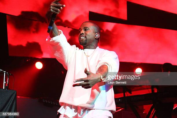 Music artist Kanye West performs during the Power 106 Presents Powerhouse at Honda Center on June 3 2016 in Anaheim California