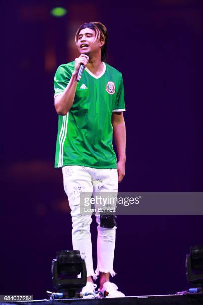 Music artist Kap G performs on stage during the Chris Brown The Party Tour at Honda Center on May 16 2017 in Anaheim California