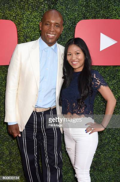 Music artist Kelly G and guest Christine attend the YouTube Pre BET Awards Showcase at NeueHouse Hollywood on June 24 2017 in Los Angeles California