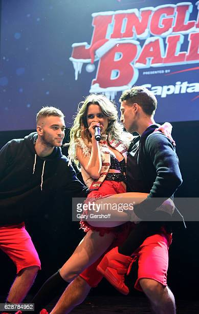 Music artist Laura Marano performs on stage during Z100 CocaCola All Access Lounge at Z100's Jingle Ball 2016 Presented by Capital One preshow at...