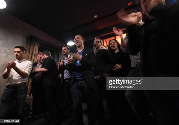 Music artist Mundy performs at the Irish Whiskey Museum as part of the Dublin Tech Summit on February 15 2017 in Dublin Ireland DTS 2017 brings...