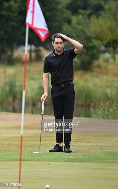 Music artist Niall Horan during the Pro Am event at The ISPS HANDA World Invitational at on July 28, 2021 in Ballymena, United Kingdom.