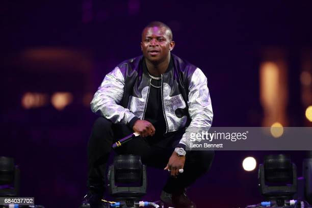 Music artist OT Genasis performs on stage during the Chris Brown The Party Tour at Honda Center on May 16 2017 in Anaheim California