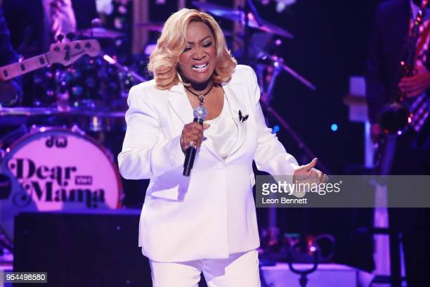 Music artist Patti LaBelle performs during VH1's 3rd Annual 'Dear Mama A Love Letter To Moms' Inside Show at The Theatre at Ace Hotel on May 3 2018...