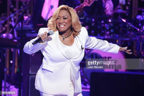 Music artist Patti LaBelle performs during VH1's 3rd Annual Dear Mama A Love Letter To Moms Inside Show at The Theatre at Ace Hotel on May 3 2018 in...