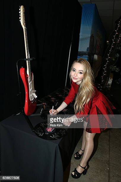 Music artist Sabrina Carpenter attends Z100 CocaCola All Access Lounge at Z100's Jingle Ball 2016 Presented by Capital One preshow at Hammerstein...