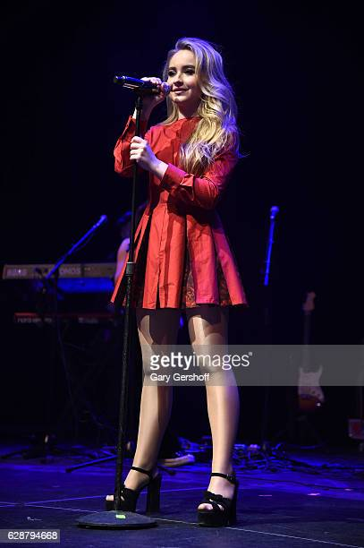 Music artist Sabrina Carpenter performs on stage during Z100 CocaCola All Access Lounge at Z100's Jingle Ball 2016 Presented by Capital One preshow...