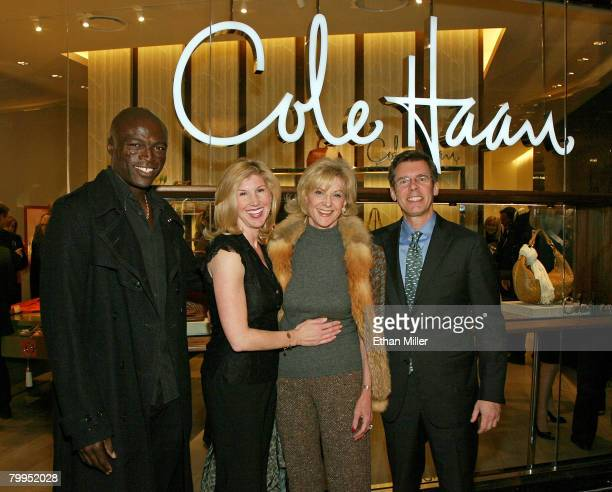 Music artist Seal Kevyn Wynn Elaine Wynn and Cole Haan CEO Jim Seuss attend the grand opening of the Cole Haan boutique at The Shoppes at The Palazzo...