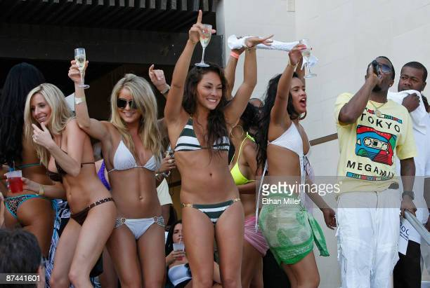 Music artist Sean Diddy Combs addresses the crowd as he hosts the Ultimate Daylife Affair party at the Wet Republic pool at the MGM Grand...