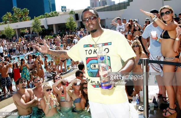 Music artist Sean Diddy Combs hosts the Ultimate Daylife Affair party at the Wet Republic pool at the MGM Grand Hotel/Casino May 16 2009 in Las Vegas...