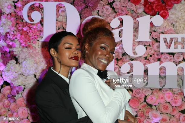 Music artist Teyana Taylor and her mom Nikki Taylor attends the VH1's 3rd Annual 'Dear Mama A Love Letter To Moms' Cocktail Reception at The Theatre...