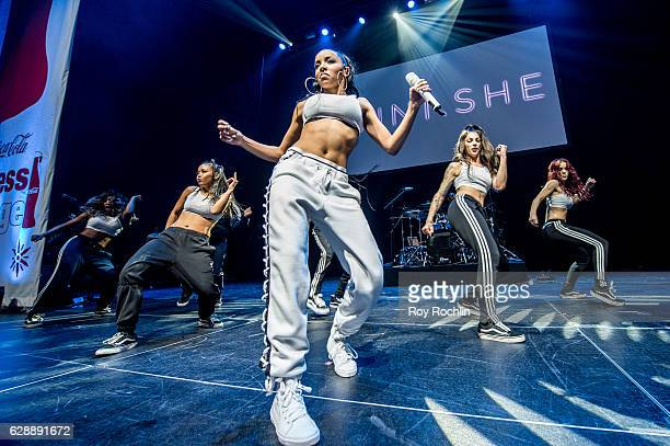 Music artist Tinashe performs on stage during Z100 CocaCola All Access Lounge on December 9 2016 in New York City